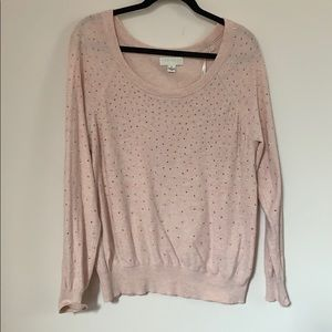 Pink Bedazzled Sweater